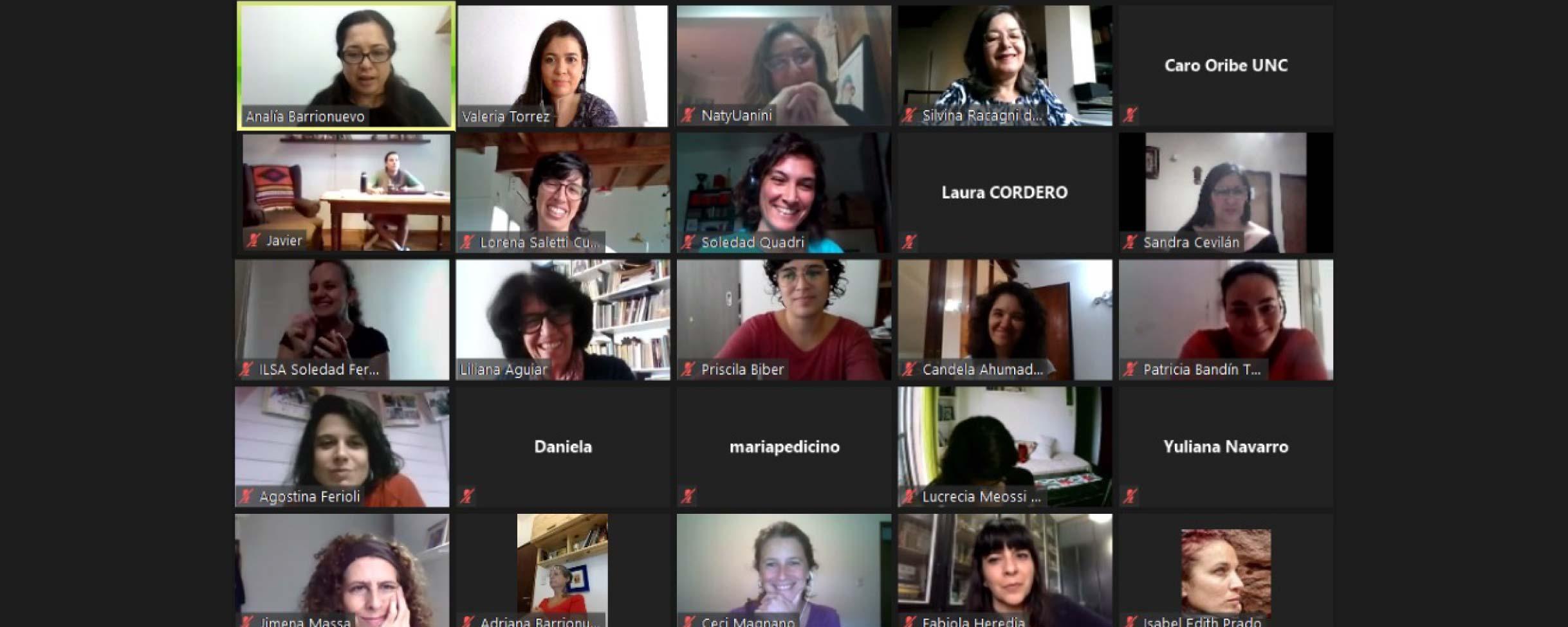 Imagen primer encuentro mesa de áreas de género de la UNC