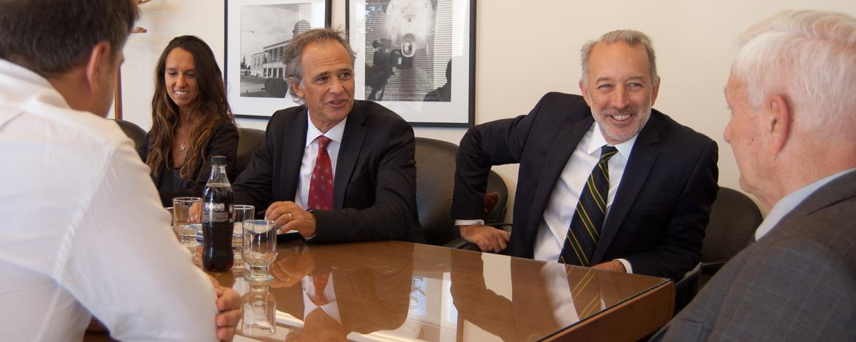 El rector de la UNC, Hugo Juri, se reunió con Martín Böhmer, director de Relaciones con la Comunidad Académica y la Sociedad Civil del Ministerio de Justicia y Derechos Humanos de la Nación.