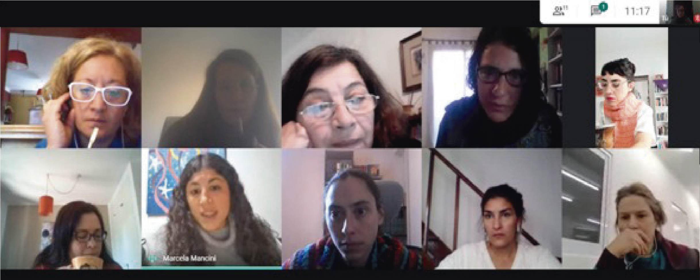 Imagen de una reunión virtual donde estuvieron presentes referentes de las universidades que integran el CPRES de la Región Centro