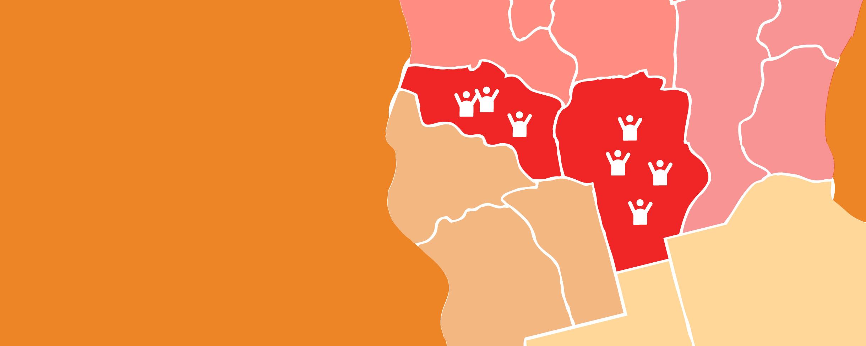 Provincias de La Rioja y Córdoba afectadas por el fuego