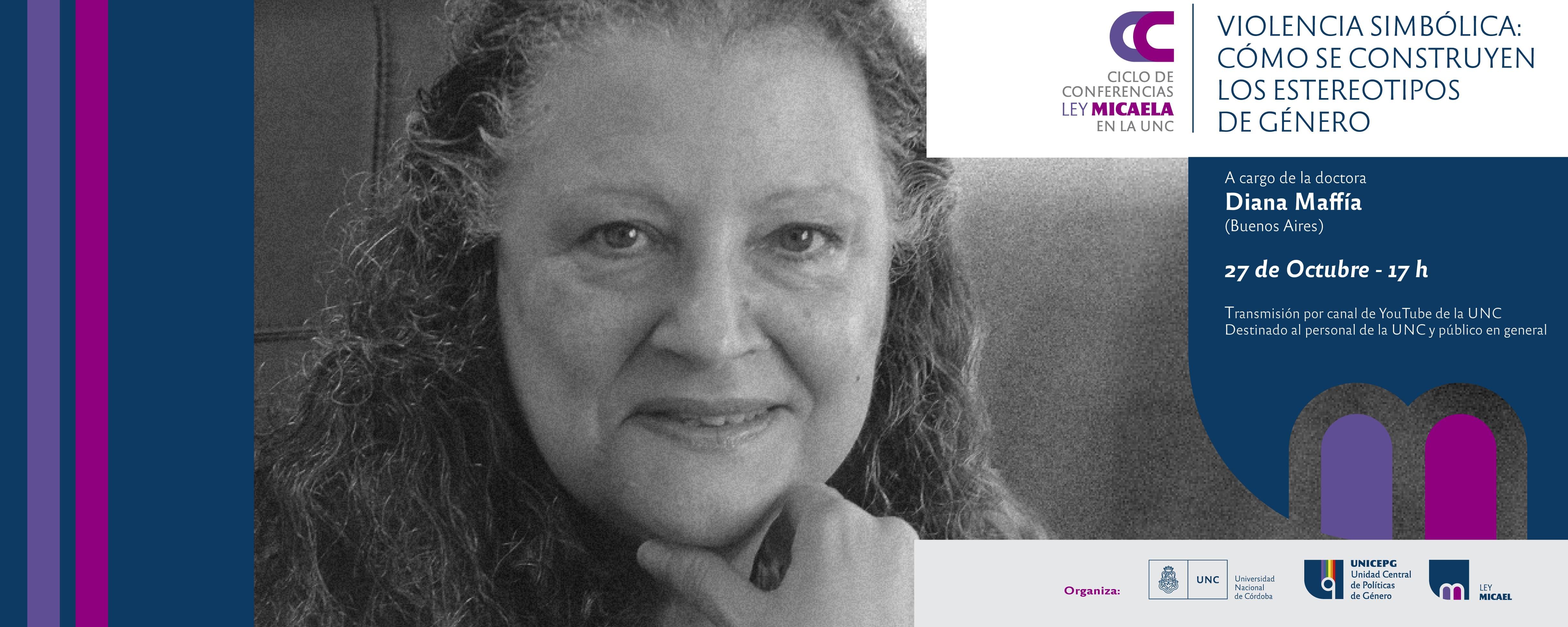 Ciclo de Conferencias Ley Micaela en la UNC. Diana Maffía