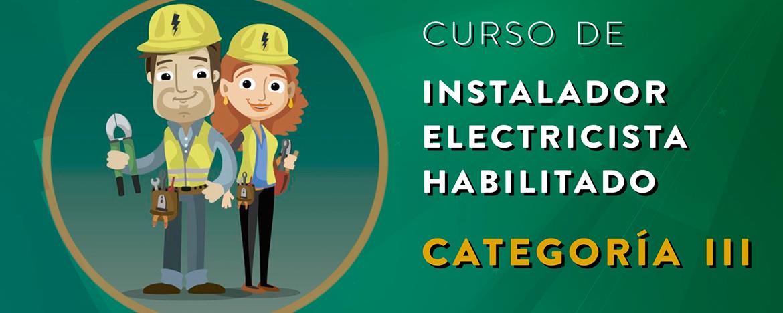 Curso instalador electricista habilitado
