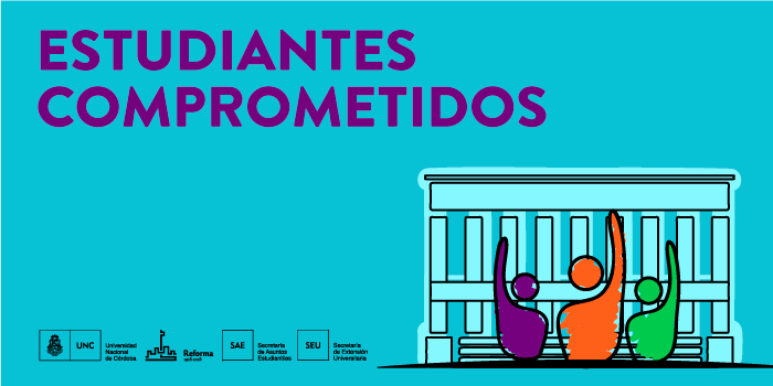 Estudiantes comprometidos, mirando al Pebellón Argentina de la UNC
