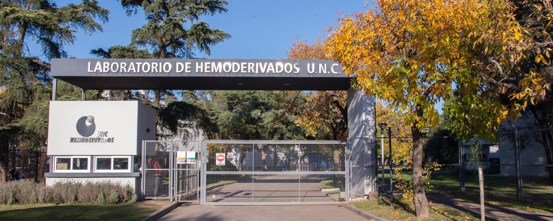 Fachada principal Laboratorio de Hemoderivados UNC