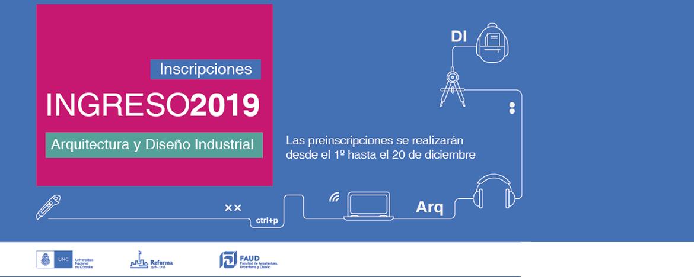 Preinscripciones 2019 a las carreras de arquitectura y for Carrera de diseno industrial