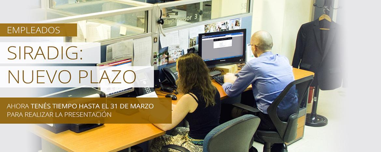 Empleados trabajando en oficina
