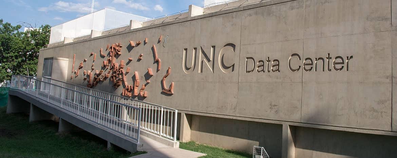 El edificio del Data Center de la UNC en un día soleado