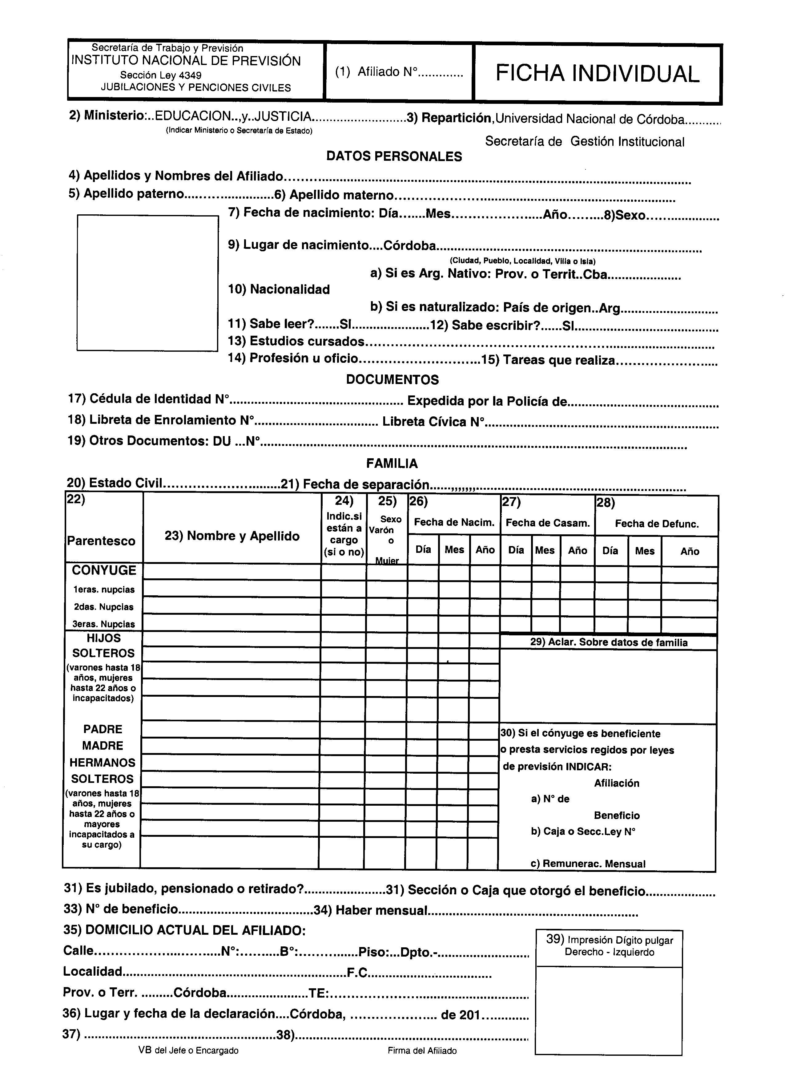 Documentación para ingresar a la UNC | Universidad Nacional de Córdoba