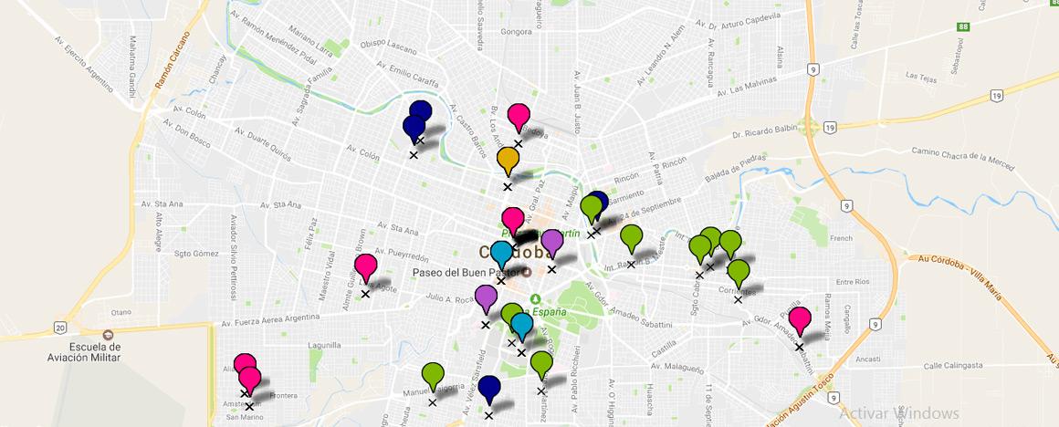 mapa proyectos
