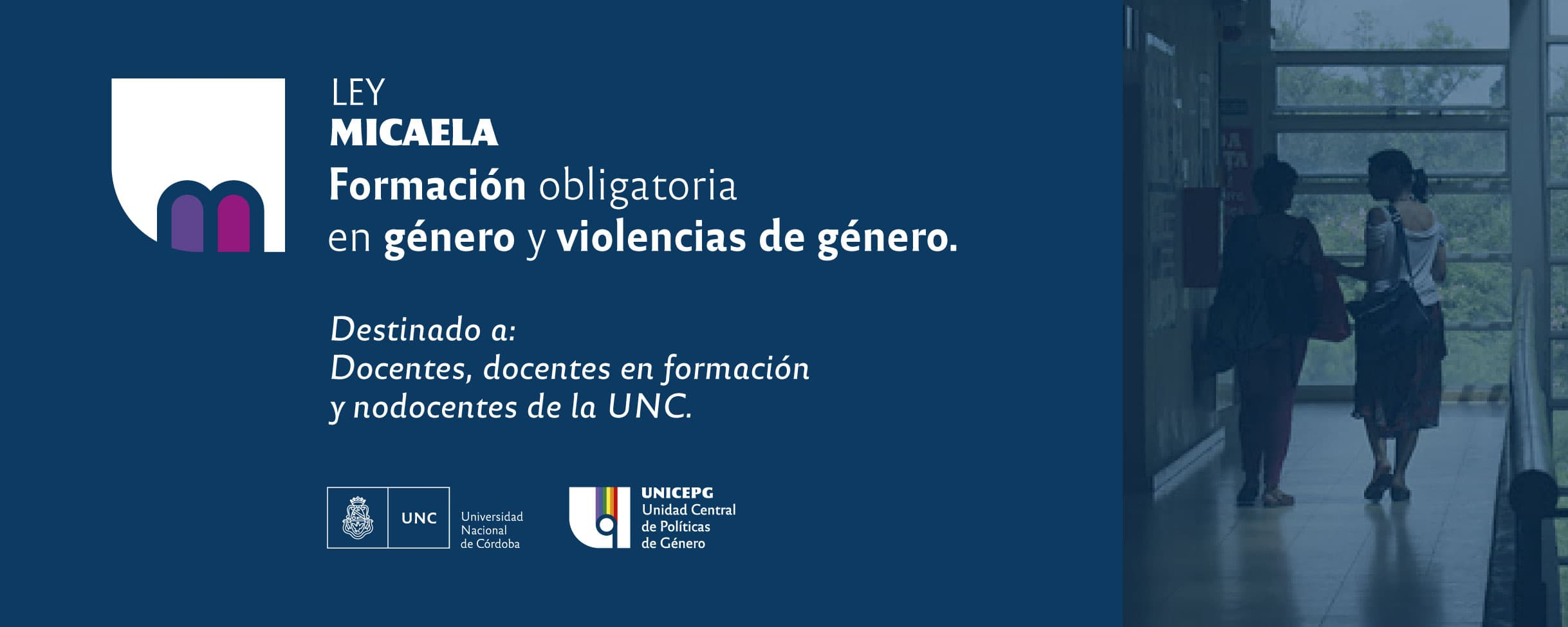 3ra edición Curso Virtual Ley Micaela en la UNC