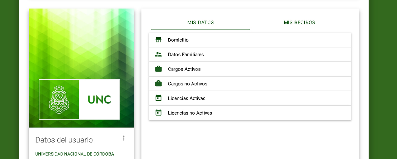 Pantalla del sistema Portal del Empleado